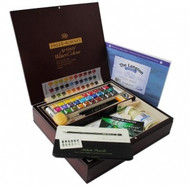 Daler-Rowney Artists' Water Colour Large Wooden Box Set (Half Pan)