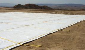 10 oz. 20 mil White/White Polyethylene Landfill Covers (TLF-20MILPE)