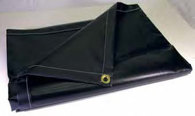 Neoprene Coated Tarps (Black)
