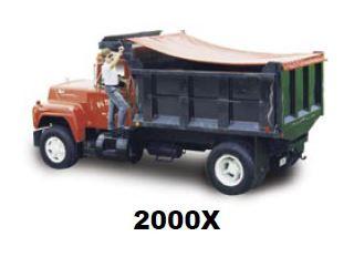 2000 Series X - No Housing, Complete Roll Tarp System for Dump Trucks
