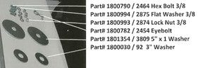 """Hex Bolt - 3/8"""" x 1-1/2"""" (20-2464/1800790)"""