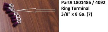 """Ring Terminal - 8 Ga. x 3/8"""" (20-4092/1801486)"""