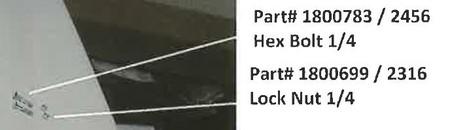 """Hex Bolt - 1/4"""" x 1-1/2"""" (20-2456/1800783)"""