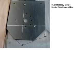 Universal Bearing Plate - Zinc (20-3270Z/1802000)