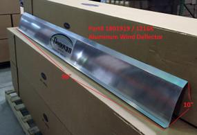 "Aluminum Wind Deflector - 1 Piece, 10"" wide x 98"" long (20-1216K/1801919)"