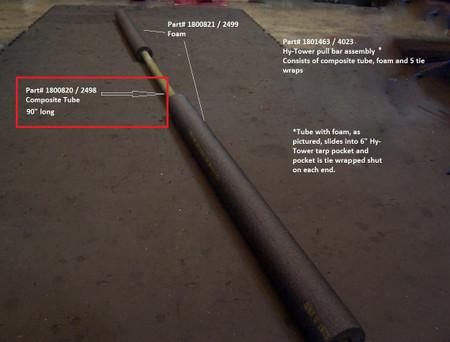 "Tube - Composite - 1"" OD x 90"" long (20-2498/1800820)"