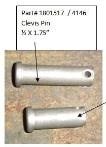 """Clevis Pin - 1/2"""" x 1-3/4"""" (20-4146/1801517)"""