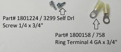 "Self-Drilling Screw - 1/4"" x 3/4"" (20-3299/1801224)"
