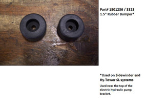 "Rubber Bumper - 1-1/2"" Round - Sidewinder and Hy-Tower SL systems (20-3323/1801236)"