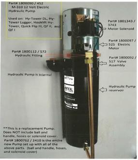 Hydraulic Pump - 12 Volt M310 (20-452/1800090)