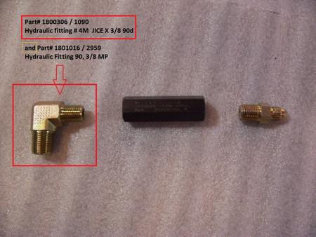 Hydraulic Fitting - 3/8MP x 90° (20-2959/1801016)