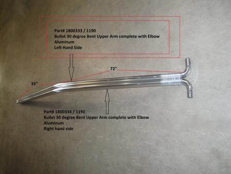 Upper Arm w/30 Bend - Driver Side - Bullet System (20-1190/1800333)