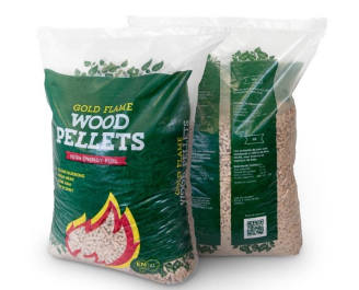 Gold Flame Wood Pellets from reservoir logs