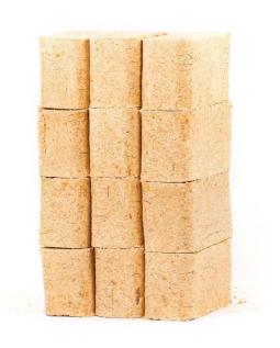 Larch Briquettes 10kg from reservoir logs