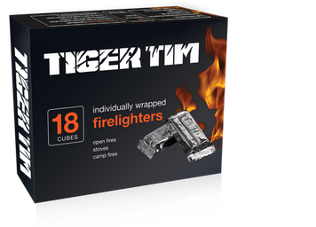 Tiger Tim Ind WrappedFirelighters