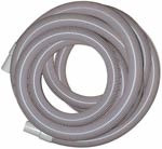 "2"" x 50' Vacuum Hose with Cuffs, Gray, AH34"