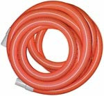 "1.5"" x 50' Heavy Duty Vacuum Hose with Cuffs, Orange, AH31H"
