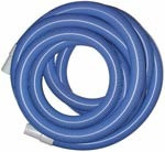 "1.5"" x 50' Vacuum Hose with Cuffs, Blue, AH38CH"