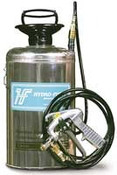 Hydro-Force: 2 gallon Stainless Steel Pump Sprayer w/10' hose & Metal Gun, AS22A