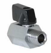 "Ball Valve, Mini Hex Chrome, 1/4"", MXF, 10-1012"