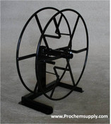 """Rokan: 450' Solution Hose Reel with Single Stand, S23-S   The single stand is self supporting and can be used to make the reel portable or to simplify installation. Reel holds 450' of 1/4"""" high pressure hose or 150' of 5/8 garden hose."""
