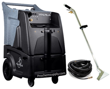 "Hydro-Force Nautilus: HEATED 12 gal 500psi Two 3-Stage Extractor w/ Hose & Wand Kit, MX3-500H  Nautilus Extractor with Hose & Wand Package | Improve your productivity with the new Hydro-Force Nautilus Extractor. The Nautilus was designed to help you clean faster using features like our AirFlow+ configurable vacuum system, molded-in locations for supplies and equipment, and larger 12"" base wheels for improved movement."