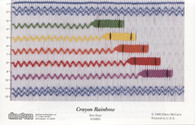 Crayon Rainbow Smocking Plate by Ellen McCarn