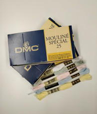 DMC Moulinè special stranded cotton, 6 strands, Ideal for all embroidery and hand smocking use three strands for most geometric smocking, There are photos of the threads in groups  If you select a colour the picture will change to show that colour thread