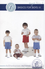 Basics for Boys III Smocking pattern by Children's Corner