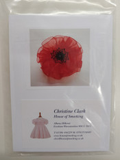 Smocked poppy kit - complete with pre-pleated organza, thread, needle, button and instructions