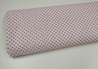 Swiss plumetis 100% cotton in white with red spot 140 cm wide