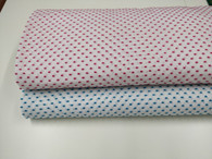 Swiss plumetis 100% cotton in white with Fuchsia or Turquoise cut spot 140 cm wide priced per metre