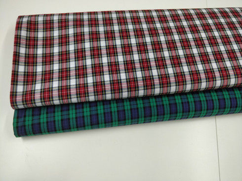 Blackwatch and Victoria tartan in Truella 100% cotton 147 cm wide - priced per metre