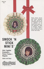 Smock 'N' Stick Mini's Smocked picture frame by Ellen McCarn