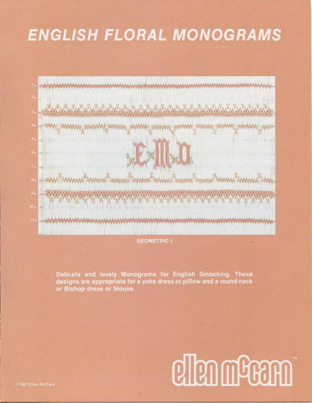 English Floral Monograms by Ellen McCarn