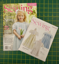 New and Exciting Spring issue, 75 patterns, projects, ideas and more, Patterns include, Heirloom wrap dress  Heirloom dress with smocking, Ladies linen blouse, Sewing projects include, Smocking plates, Monograms and whitework, Special touches include, Skirts, Table topper and quilt, Vinyl bib, and so much more