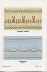 Bunnies N Carrots and Baby Bunnies Smocking plate by Ellen McCarn