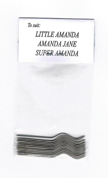 Original Amanda Jane and Super Amanda and Little Amanda Smocking pleater needles direct from the Amanda Jane company in Australia - Available as 12 or 24 needles