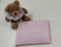 An end of roll piece of pink sheen sateen, 100% cotton, 59 cm x 114 cm Wash at 30 degrees
