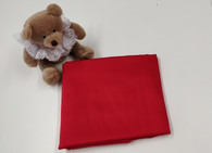 An end of roll piece of red sheen sateen fabric, 100% cotton, 84 cm x 113 wide, Wash at 30 degrees