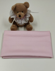 An end of roll piece of pink pique, 100% cotton, 75 cm x 145 cm Ideal for baby wear. shorts, pinafore etc, Wash at 30 degrees