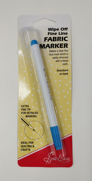 Wipe Off Fine Line Fabric Marker, Easily removed with a damp cloth, DO NOT iron or leave for more than 30 days, or it will become permanent, Ideal for marking, Embroidery design, armholes and in quilting