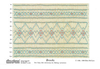 Brooks smocking plate by Ellen McCarn, Suitable for a square yoke dress or insert, Variation for a bishop, Some experience needed