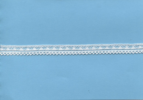 Narrow scalloped edging lace 1 cm wide (HOS 1)