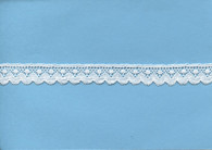 Spot and fan design edging lace 1.3 cm wide (HOS 7)