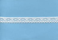 Looped edged edging lace in white 1.6 cm wide