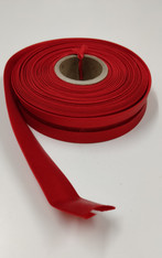 14 metre reel red stain bias binding 2 cm wide