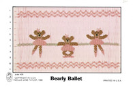 Bearly Ballet Smocking Plate by Mollie Jane Taylor, Pre-Loved but good condition