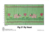 Pig O' My Heart Smocking Plate by Mollie Jane Taylor, Pre-Loved but good condition
