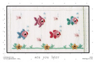 Sea You Later Smocking Plate by Little Memories, Pre-Loved but good condition
